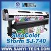 Sinocolor Sj740、屋内および屋外の印刷のための1440dpi Dx7 Ecoの支払能力があるプリンター、