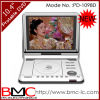 10.4  reproductores de DVD portables con DVB-T, TV análoga, juego (1098D) de las multimedias