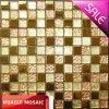 Mosaico del metallo della miscela di cristallo della stagnola di oro per la parete/cucina/Backsplash decorativo