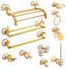 La serie splendida dell'oro ha placcato gli accessori della stanza da bagno impostati in d'ottone ed in in lega di zinco
