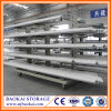 Magazzino Light Duty Longspan Cantilever Rack con Wheels Pipe Storage Steel Racks