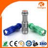Linterna del aluminio del interruptor de la cola de la pila seca del solo modo del LED mini