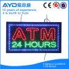 Retângulo de Hidly o sinal do diodo emissor de luz de Ásia ATM