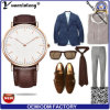 Entwurfs-Dame-Uhr Dw Art-Quarz-Leder-Stahluhr der Förderung-Yxl-002 neues für Mens-Frauen-kundenspezifisches Firmenzeichen-beiläufige Uhr
