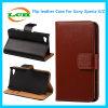 Caisse de cuir de logement pour carte de pochette de chiquenaude pour Sony Xperia X/Z