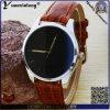 O relógio de senhoras da moda da forma Yxl-254 projeta o relógio de aço automático da caixa dos relógios do couro das mulheres do relógio de pulso da promoção do OEM