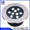 Indicatore luminoso chiaro sotterraneo rotondo della prova LED Inground dell'acqua di illuminazione esterna