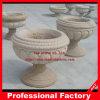 Piantatrice intagliata pietra di pietra del vaso del giardino, Flowerpot di marmo del granito