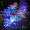 Luz del banquete de boda del adorno de la mariposa LED de la decoración 3D del día de fiesta