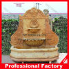 Marble amarelo Wall Fountain para Public Area