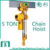 Shengqi 2016 alzamiento de cadena eléctrico de 5 toneladas con el bloque de gancho