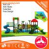 Equipamento ao ar livre plástico residencial do campo de jogos do projeto da forma