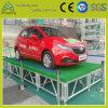 Алюминиевый этап переклейки для проведения выставки автомобиля