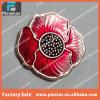 Pin de encargo barato de la solapa de la flor del metal de la alta calidad de la fábrica de Alibaba China Pinstar