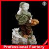 Scultura variopinta del marmo della scultura della decorazione del giardino della statua di marmo del ragazzo