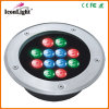 Jardín impermeable Light DC24V de 12*1W LED Inground con IP66