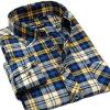 Longues chemises de robe de coton de chemise de chemisier de chemise d'hommes en gros