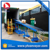 Trasportatore a rulli esteso robusto di gravità per lo scarico del contenitore, veicoli di tutti i formati
