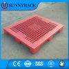 Nove do engranzamento da plataforma da superfície pés de pálete plástica barata da cor seletiva