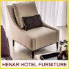 Cadeiras francesas do acento do hotel com assento estofado estrutura da madeira contínua