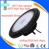 2018 Luz más nueva de la bahía del UFO LED de 140 Lm / W