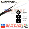 G657A LSZH 1 ou 2, 4 Core FTTH Drop Cable com Messenger