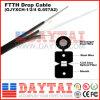 G657A LSZH 1 o 2, 4 cable de gota de la base FTTH con el mensajero