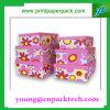 Rectángulo de empaquetado del regalo de la impresión de la caja de cartón del rectángulo de la flor