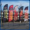 Praia retangular das bandeiras das penas do anúncio ao ar livre para a venda