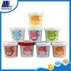 Copos do gelado do papel do produto comestível com o recipiente descartável das tampas de papel