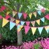 Indicador decorativo del jardín por encargo, indicador del banderín del triángulo del fieltro mini