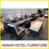 Sofà sezionale lungo di legno del salotto di modo per l'hotel cinque stelle