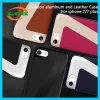 iPhone 7/6s/6のための航空アルミニウムおよび革電話箱