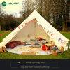 5m Rundzelt-im Freien Luxuxbaumwollsegeltuch-Familien-kampierende Rundzelte mit Ofen-Loch-kampierendem Zelt