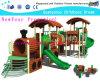 De Speelplaats van de trein op Pretpark van de Speelplaats van de Bevordering het Openlucht(M11-02301)