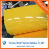 Hoja brillante rígida brillante amarilla del PVC para el letrero