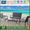 Sofá de mimbre al aire libre de los muebles 4PCS de la rota del marco de aluminio barato (TG-1269)