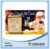 Tarjeta plástica del PVC de la tarjeta de la tarjeta de la impresión de la tarjeta del regalo