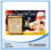 Carte en plastique de PVC de carte de carte d'impression de carte de cadeau