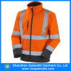 De Oranje Bedrijfsveiligheid die van de douane Weerspiegelend Werkend Jasje kleedt