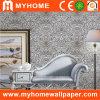 Papier peint de luxe argenté pour le matériel de décoration