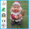 Figurinha de gnomo de decoração de jardim de poliresina / resina