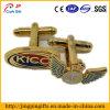 Botão de punho do metal do Tag conhecido da asa do ouro