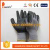Перчатки безопасности многоточий серого нитрила нейлона Coated миниые - Dnn143
