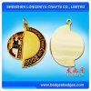 マラソンのリボンが付いているQuadrateによって艶をかけられる金属メダル