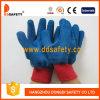 Голубая перчатка польностью Coated Dcl416 латекса