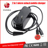 2 in 1 Plug in Type Micro USB Travel Phone Charger für Sansung Galaxi S6, iPhone 5