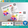 Cartão transparente personalizado do PVC