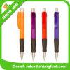 Bolígrafo personalizado de la pluma del rulo de plástico de la insignia (SLF-PP016)