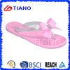 Zapatos con la decoración del Bowknot, flip-flop (TNK50027-1) de la jalea del PVC